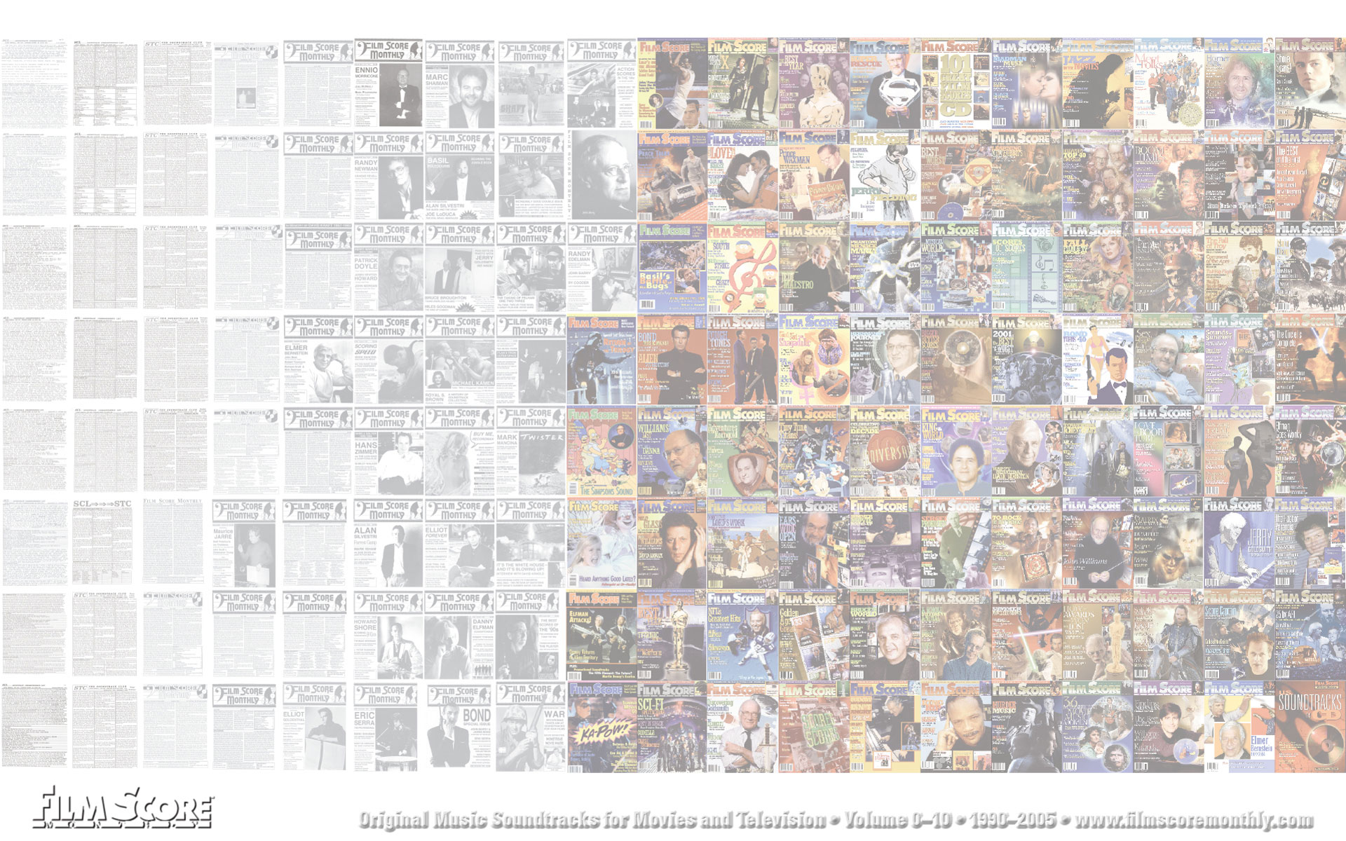 Wallpaper #4: FSM Print Magazine: All Covers, 1990-2005 (muted)
